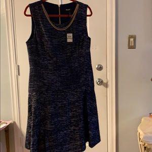 DKNY Dresses - DKNY Hudson Blue Tweed Dress Size 14